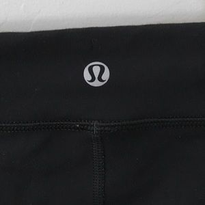 lululemon athletica Pants - LULULEMON BLACK FRONT ZIP HEAT IT UP YOGA CROP  8